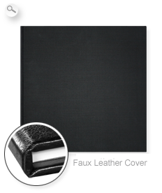 Cover: Faux leather black