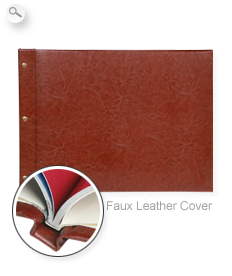 Cover: Faux leather brown